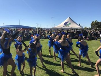 Cheer and Dance Intensity perform for patrons