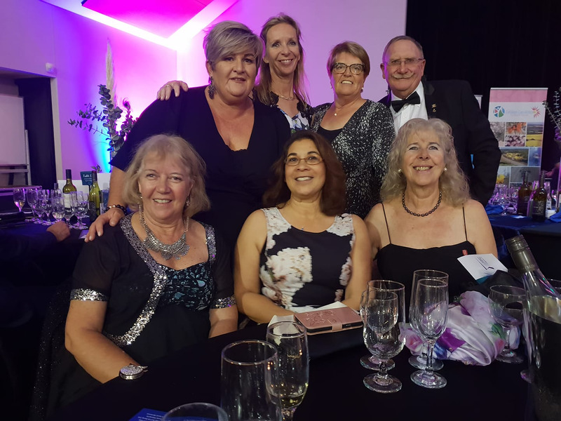 The Cruise Geraldton volunteer team at the awards evening.